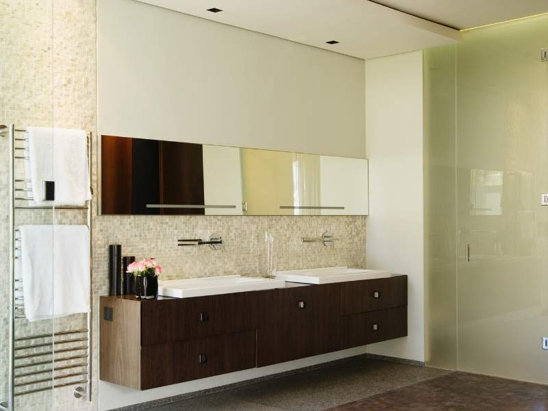 Use towel warmers in your modern bathroom.