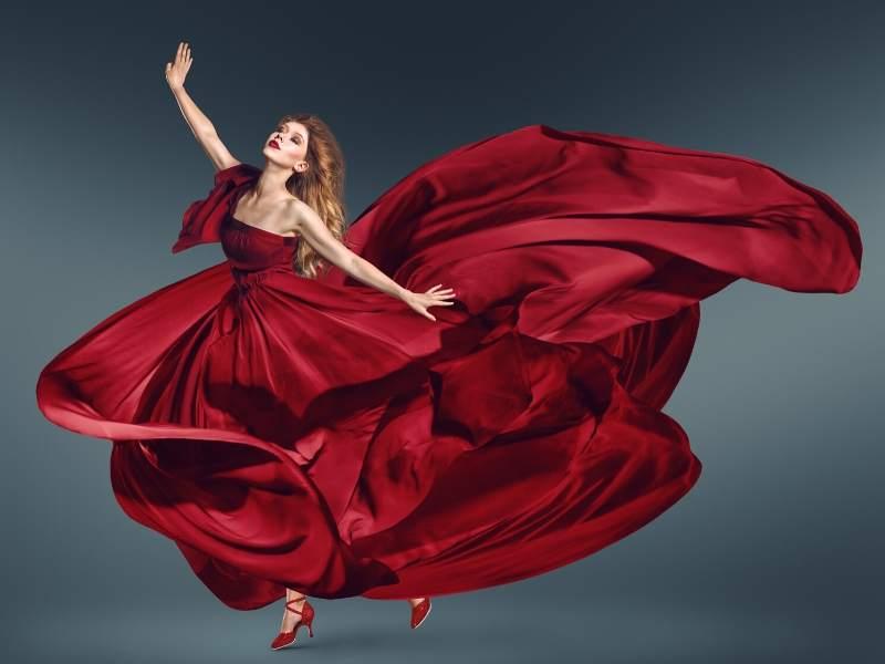 Fashion-Forward Red Dress