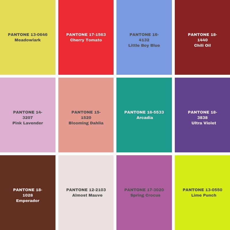 Pantone 2018 Color Forecast