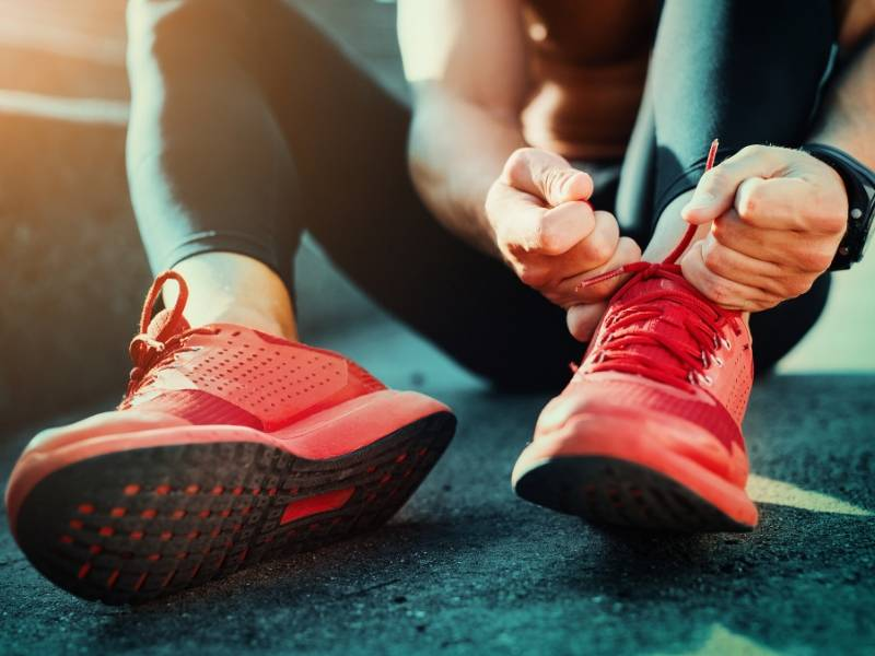 Running Shoes Indicate Your Commitment