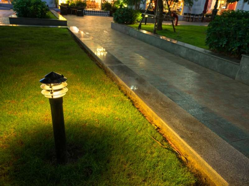 Settle For Ambient Lighting For Your Walkway Or Sidewalk