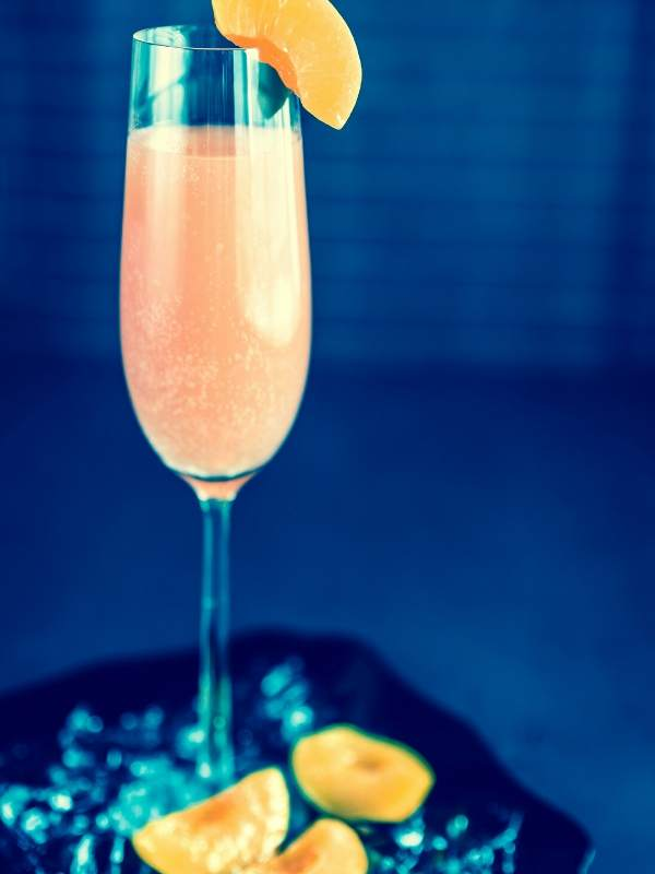 Peach Apricot Bellini Cocktails