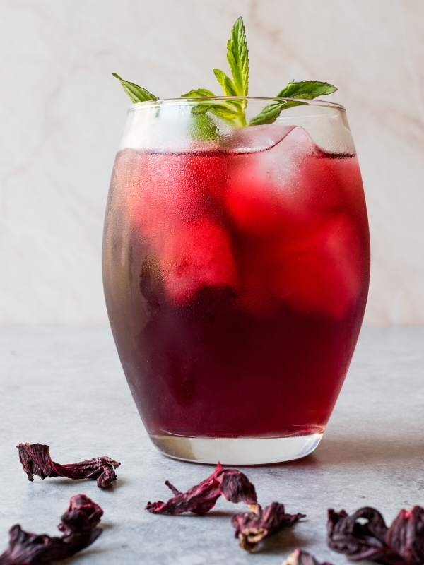 Pear Hibiscus Brunch Cocktail