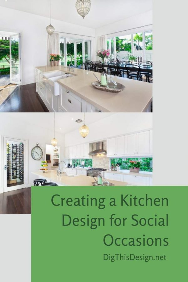Creating a Kitchen Design for Social Occasions