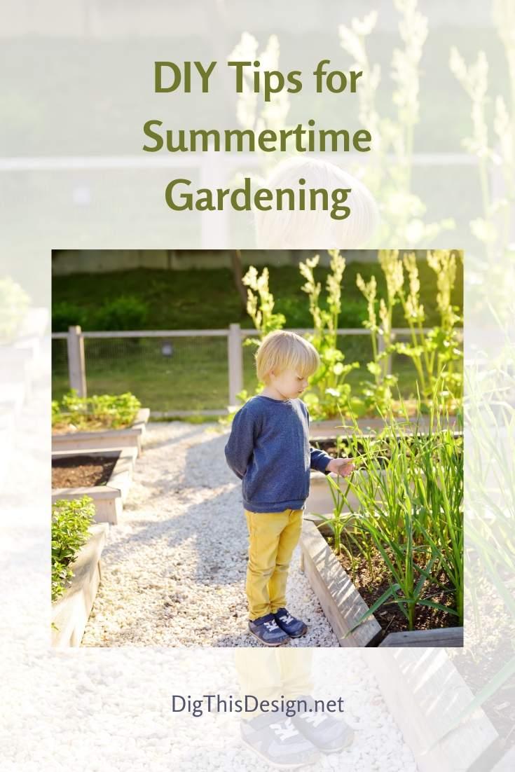 Easy Summertime DIY Garden Tip Ideas