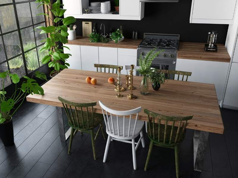 Eat-in Kitchen Full Dining Table