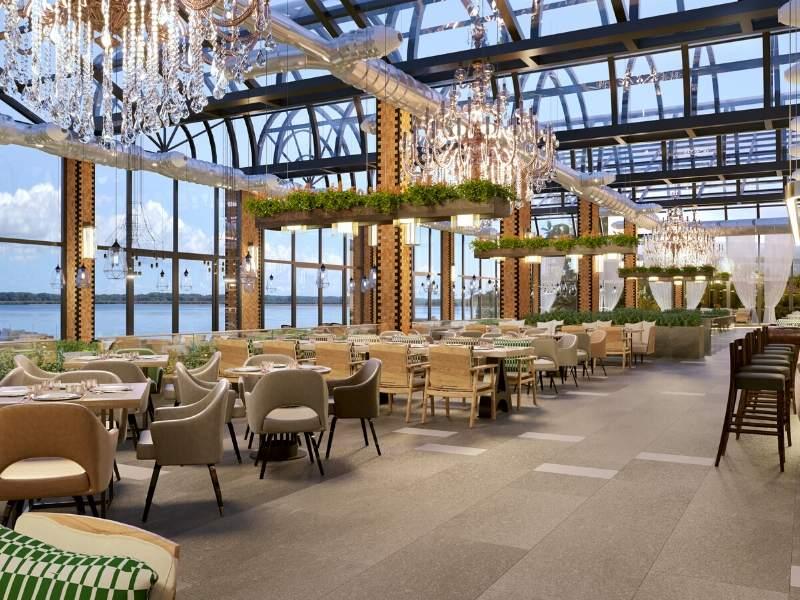 Natural Greenery Restaurant Design