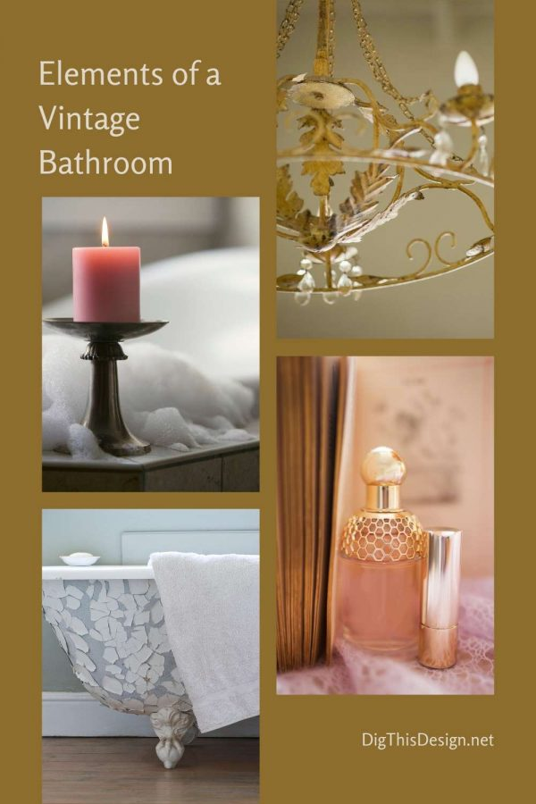Elements of a Vintage Bathroom Style