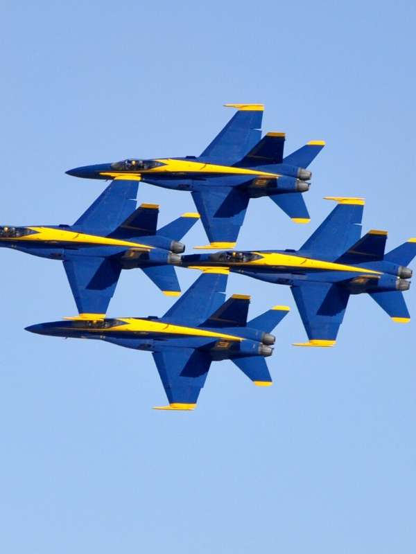 Navy Blue Angels Fly Over
