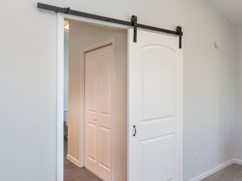 Barn Doors Work Well in Small Spaces