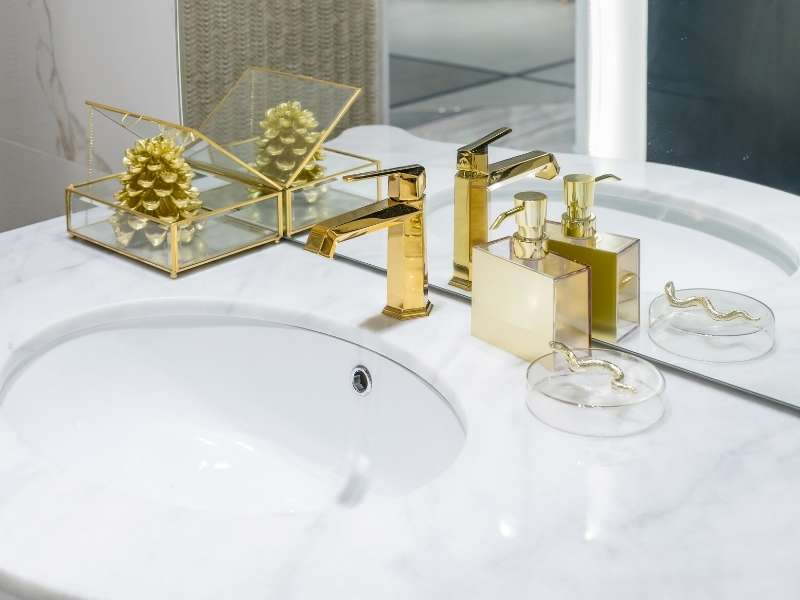 Kitchen and Bathrooms - Gold is HOT!