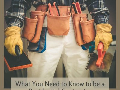 Becoming a Residential Contractor