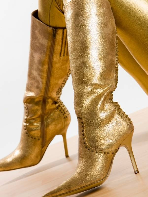 ashion Boots for Fall 2020 - gold lame