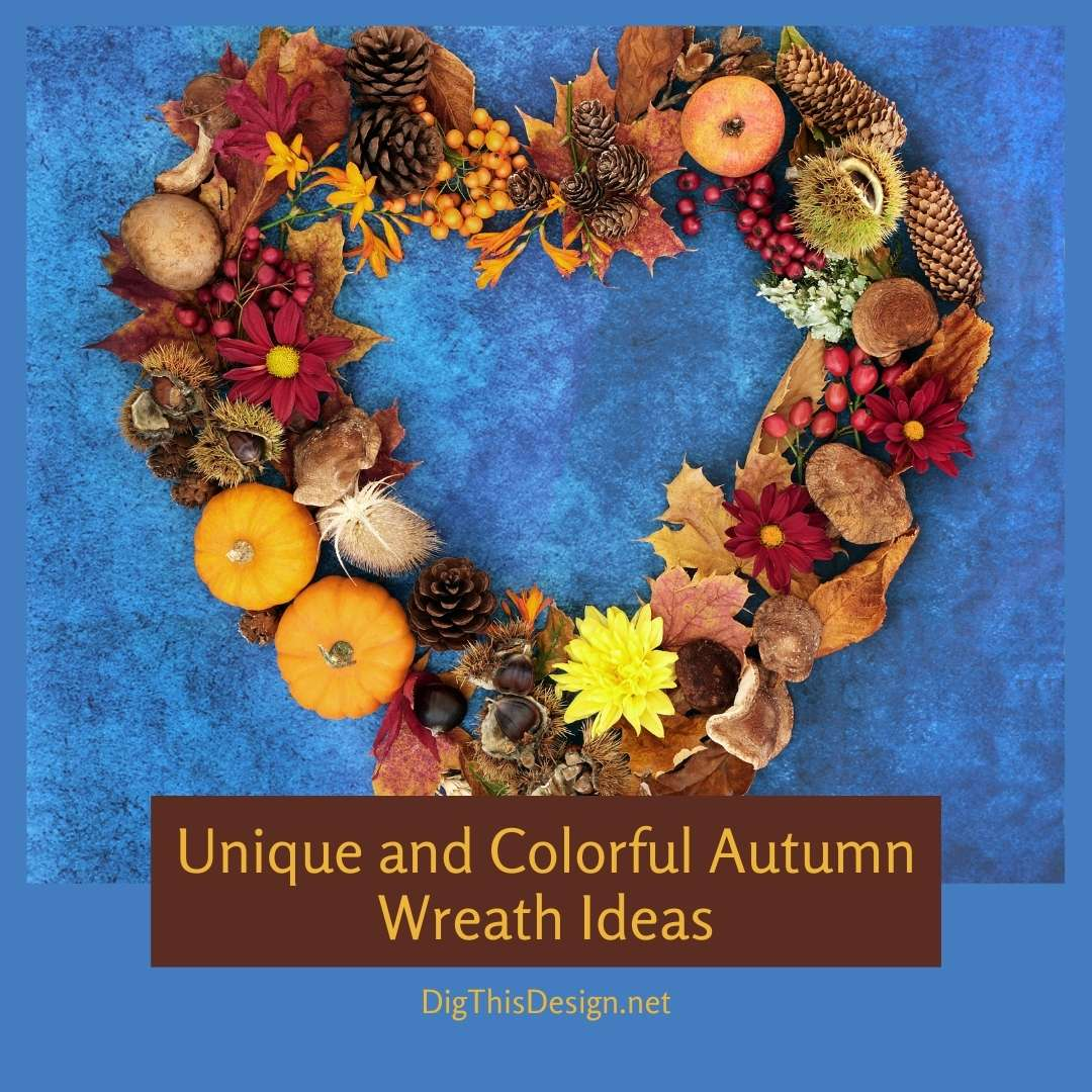 Unique and Colorful Autumn Wreath Ideas