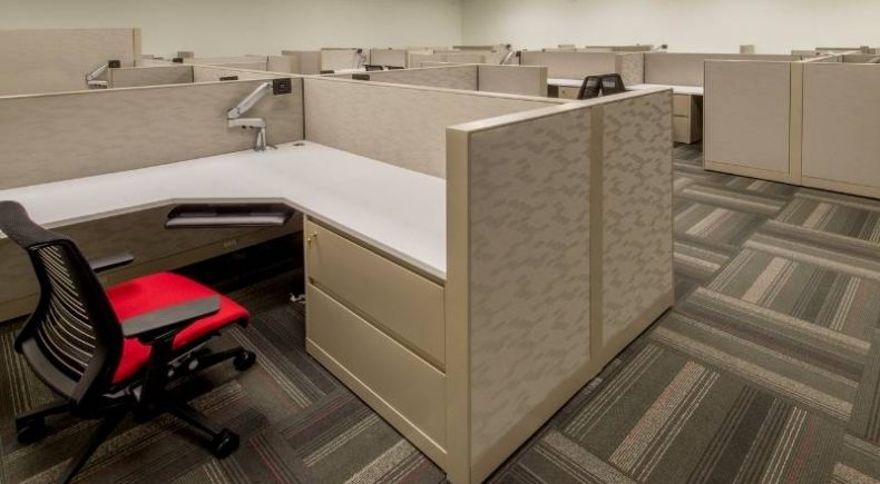 Bad Office Design - all cubicles - no natural light.