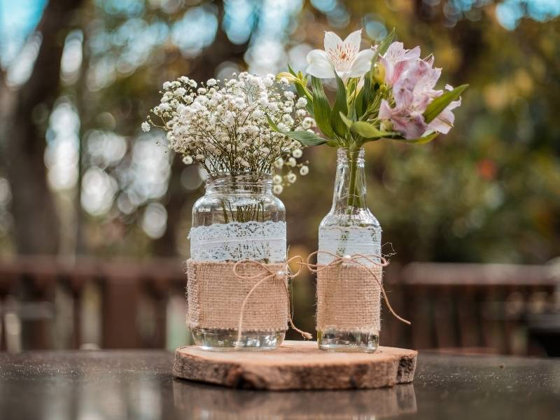 How to Plan for a Post Lockdown Wedding - DIY Centerpieces