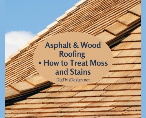 Asphalt & Wood Roofing How to Treat Moss and Stains