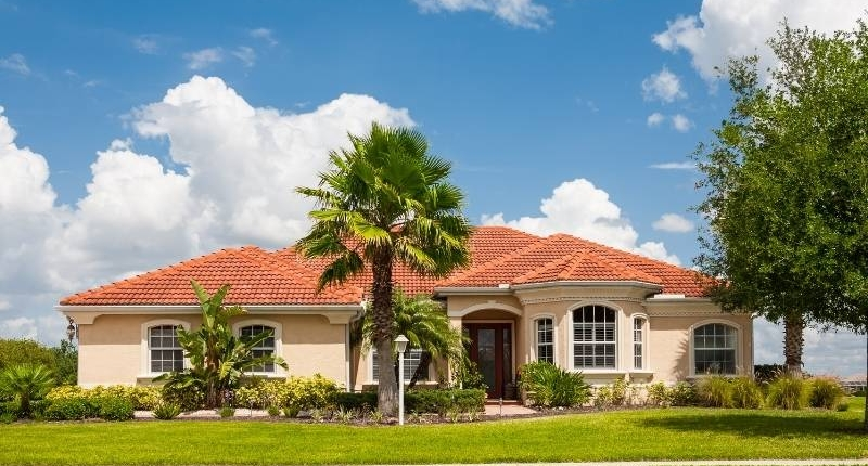 Material Options for Residential Roofs - Home with Terra Cota Tile Roof