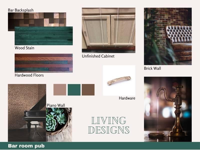 Living Designs Bar Room Pub Mood Boards