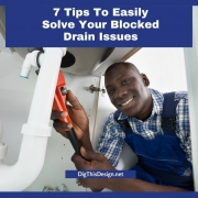 7 Tips To Easily Solve Your Blocked Drain Problems - plumber under sink with red wrench fixing the pipe.