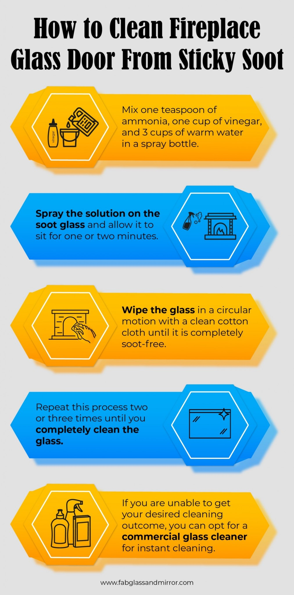 Infographic About How to Clean your Fireplace Glass Doors