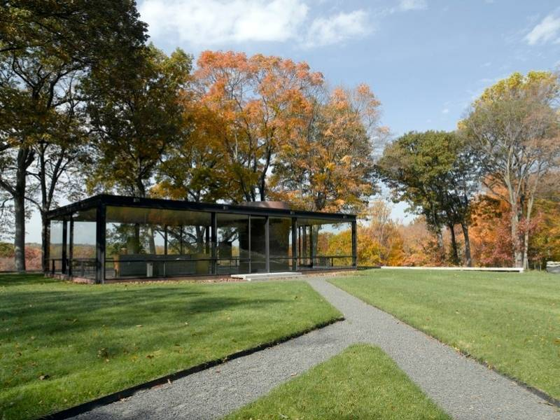 Philip Johnson's Glass House in New Canaan, Connecticut