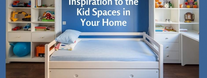 Ways to Bring Inspiration to the Kid Spaces in Your Home - organized kids room with shelves and trundle bed.