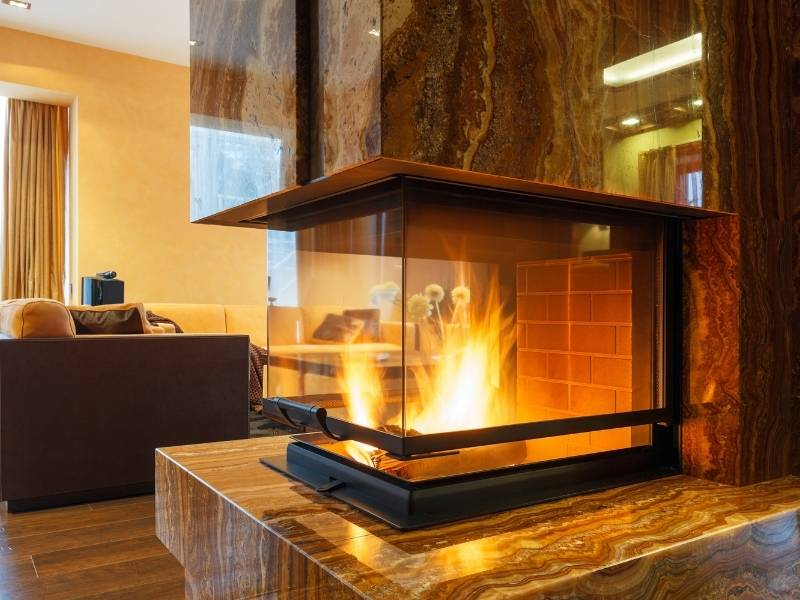 Fireplaces are just the right touch of warmth.