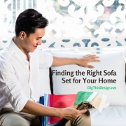 Finding the Right Sofa Set for Your Home - man looking a fabric samples for his new sofa.