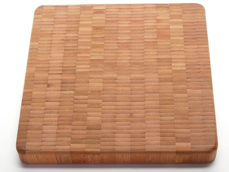 Modern uses of bamboo material - bamboo cutting board.