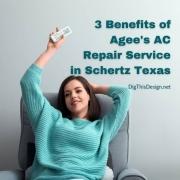 3 Benefits of Agee's AC Repair Service in Schertz Texas