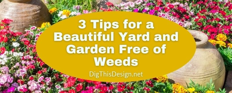 3 Tips for a Beautiful Yard and Garden Free of Weeds