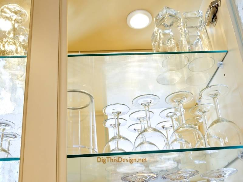 Install Glass Cabinets in Your Living Room and Kitchen