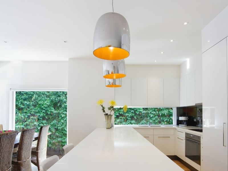Lighting over the kitchen