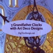 Grandfather Clocks with Art Deco Designs
