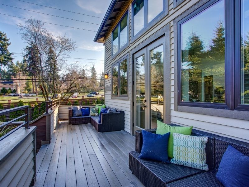 Wooden Deck on a Summer Day - Awesome Outdoor Living Space