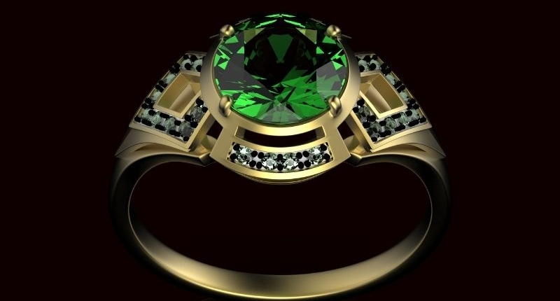 Green holiday ring for how to style your rings for the holidays
