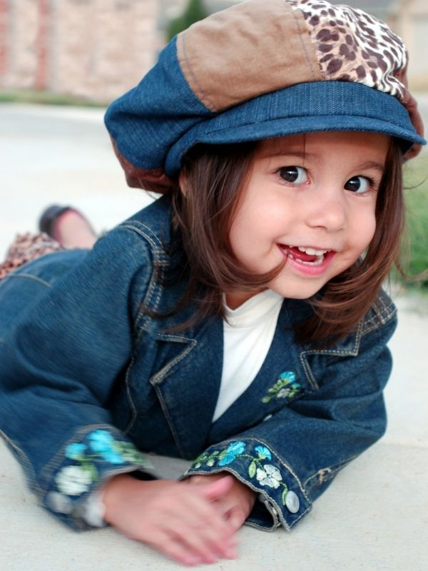 Stepping Out in Colorful and Warm Fall Fashion - Girl's Denim Delight!