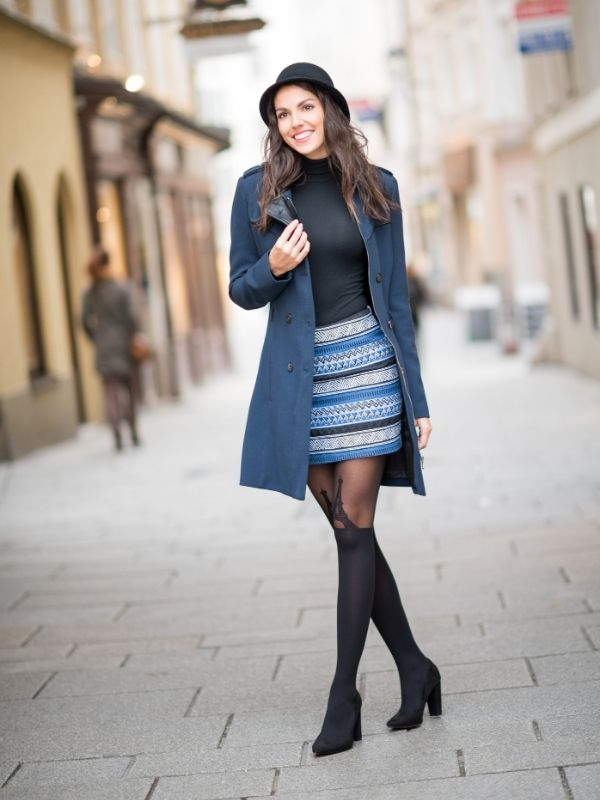 Stepping Out in Colorful and Warm Fall Fashion - Trench Coat and Boots