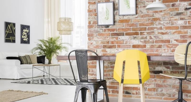 7 Incredible Ways to Make Your Los Angeles Apartment Look Chic - Brick wall for focus wall.
