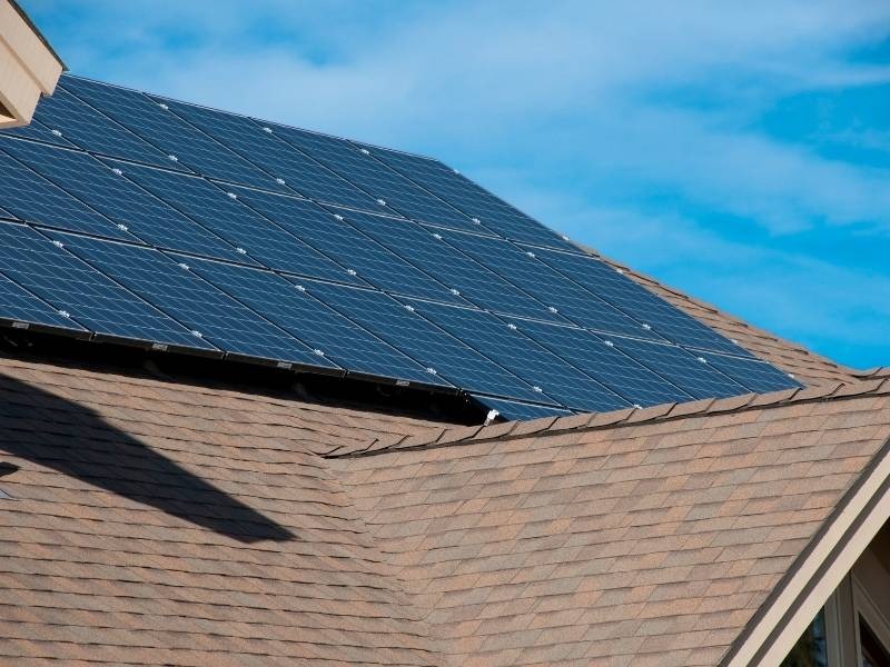 7 Ways to Have a Green Home - solar panels to catch some sun rays.