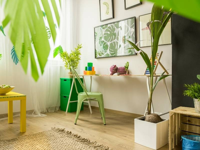 Ways to Bring Inspiration to the Kid Spaces in Your Home - add house plants to the room
