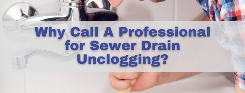 Why Call A Professional for Sewer Drain Unclogging?