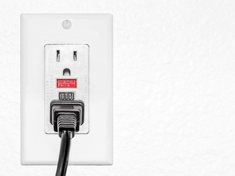 6 Home Electrical Problems of Concern to Keep Your Home Safe - GFCI Bathroom Outlet