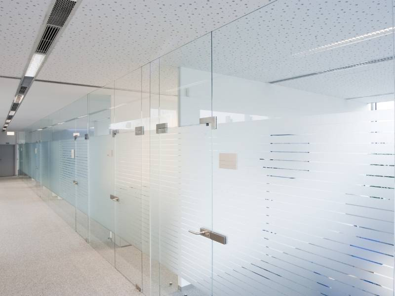 Office Interior Design with Glazed Glass